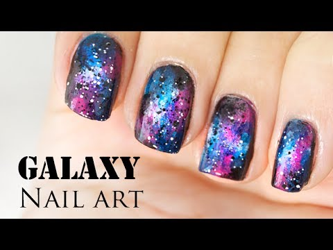- Beautiful Galaxy Nail Art Design