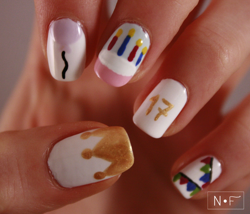 40 Most Beautiful Birthday Nail Art Design Ideas