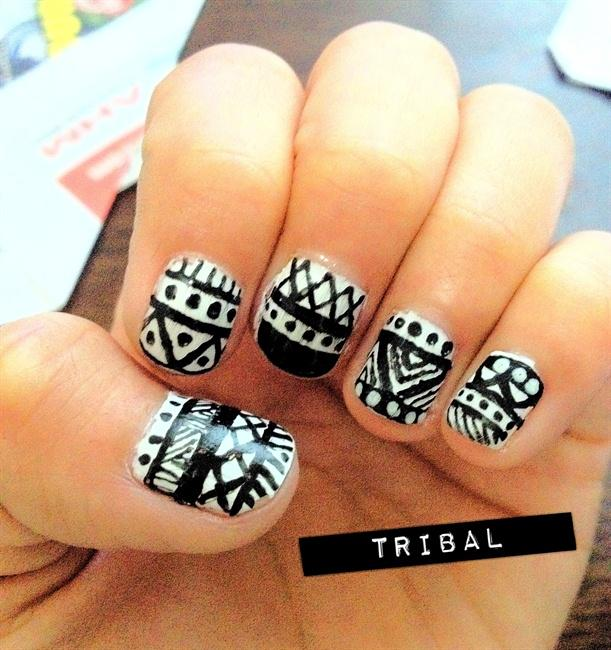 60 Most Stylish Tribal Nail Art Design Idea