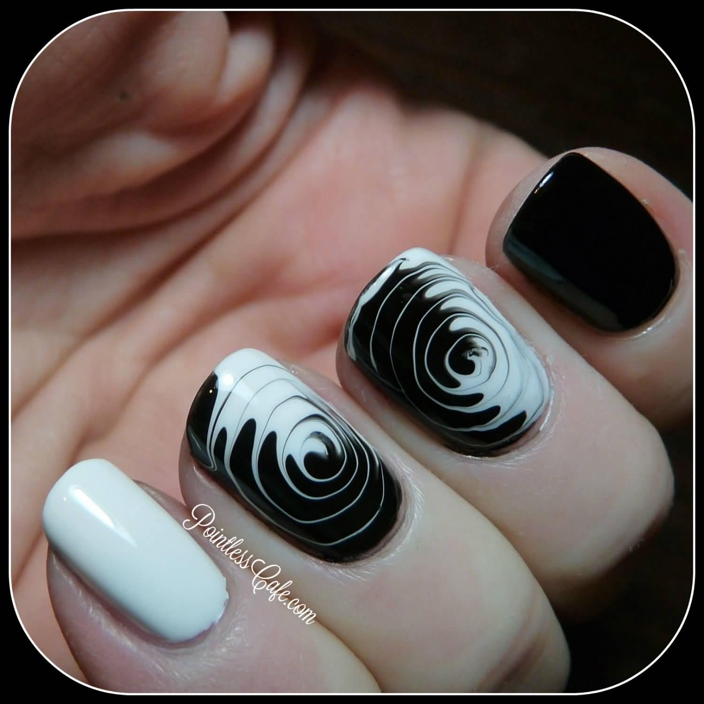 35+ Stylish Spiral Nail Art Designs