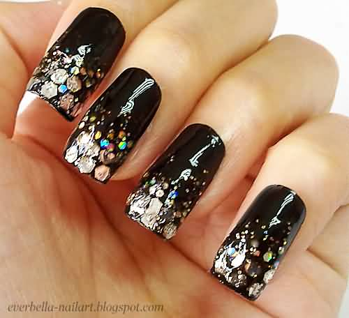 Silver For Prom Nail Ideas: 55 Best Glitter Nail Art Design Ideas