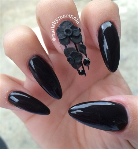 Black Stiletto Nail Designs Graham Reid