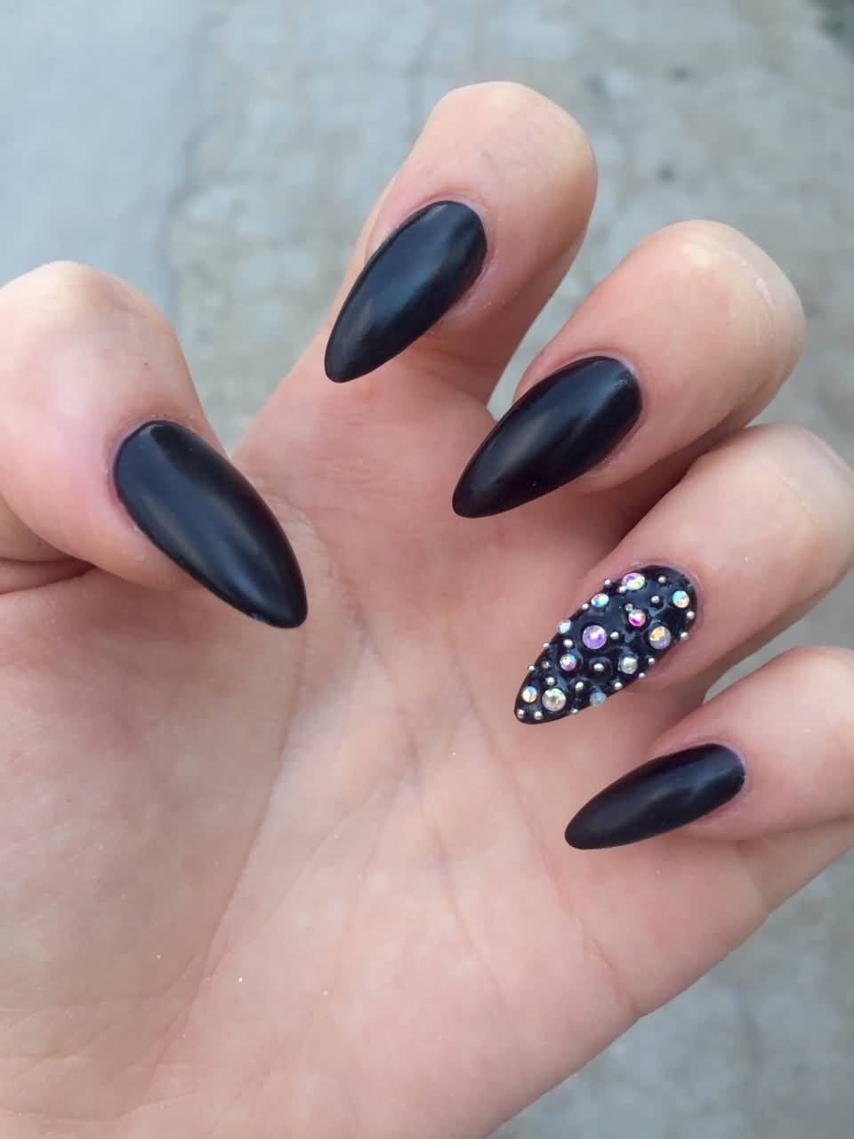 Stiletto Nails Fake Nails Matte Nails Blue Press On Nails: 55 Most Stylish Matte Stiletto Nail Art Designs