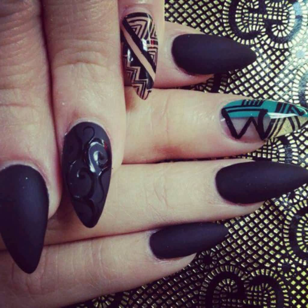 35+ Cool Stiletto Nail Art Designs