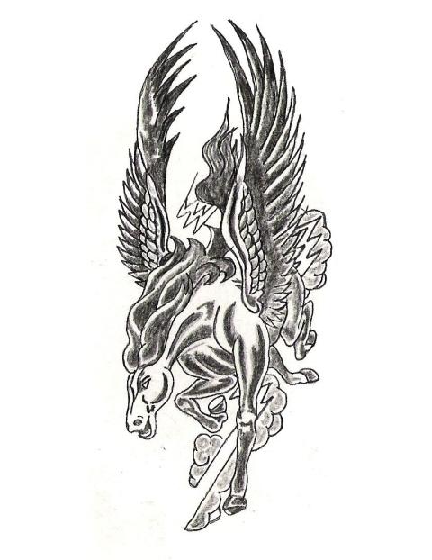 Pegasus Tattoo: 40+ Famous Pegasus Tattoo Designs