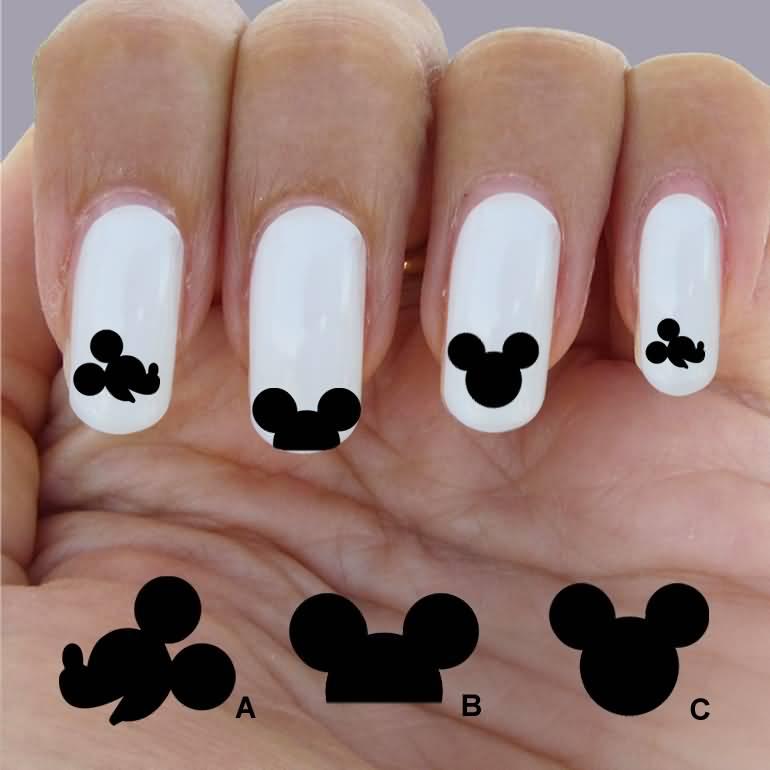 Mickey Nail Art Design - NailArts Ideas