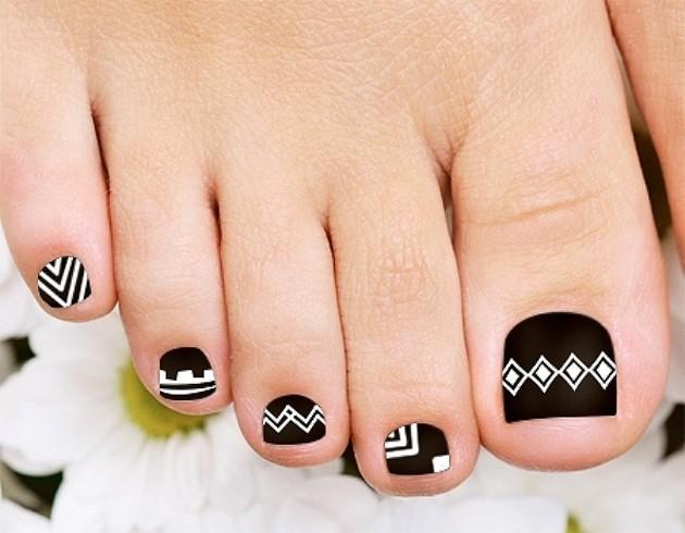 18 Tribal Nail Art Designs For Toe Nails