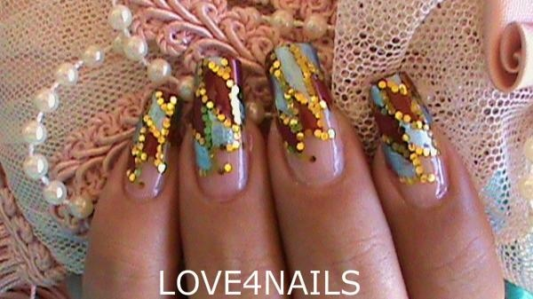 Dont let anyone dull your sparkle glitter nail art blue and red nails with gold glitter nail art design prinsesfo Choice Image