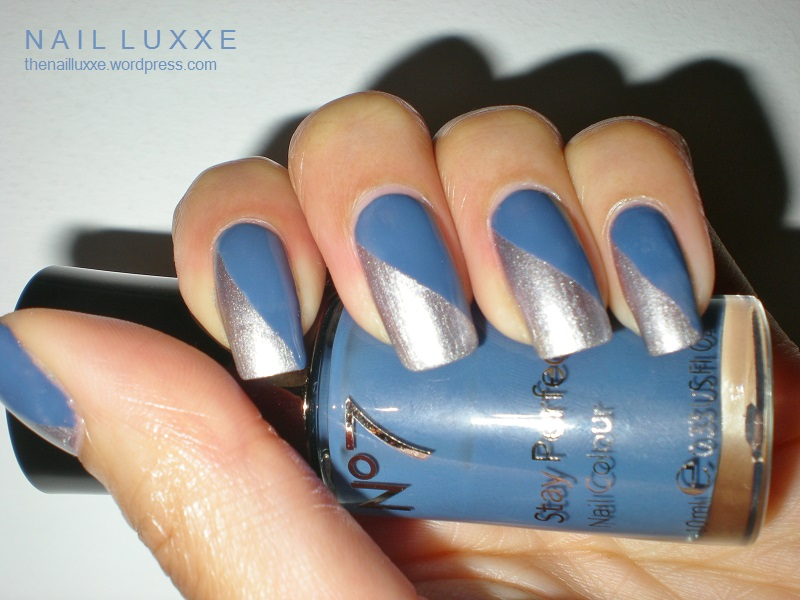 Nail Art Designs Blue And Silver Hession Hairdressing