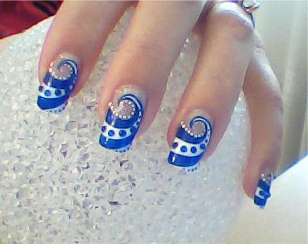 50 Most Beautiful Blue Nail Art Design Ideas