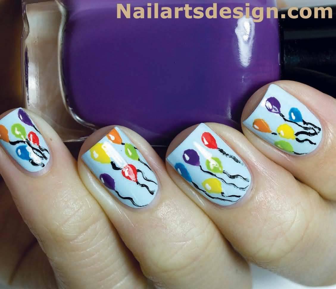 Birthday Nail Designs: 40 Most Beautiful Birthday Nail Art Design Ideas