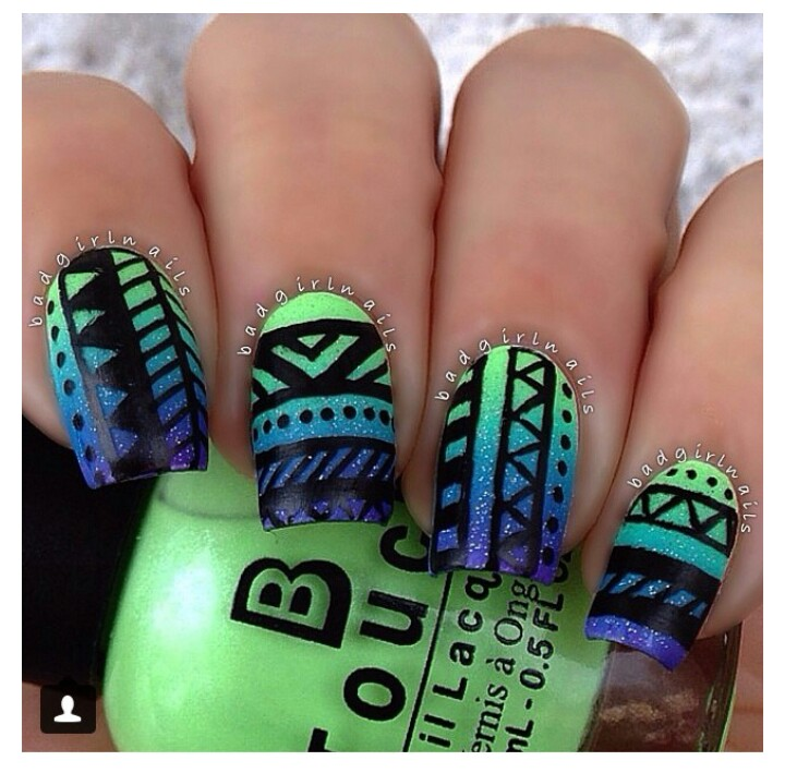 Tribal Nail Art: 65+ Cool Tribal Nail Art Designs