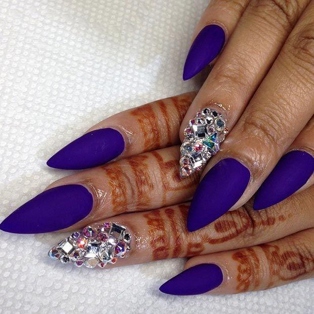 Stiletto Nail Art: 55 Most Stylish Matte Stiletto Nail Art Designs