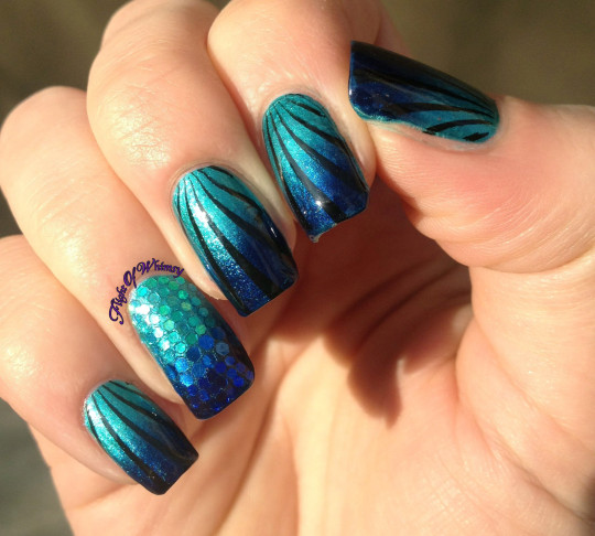 Blue Mermaid Nail Art Ideas
