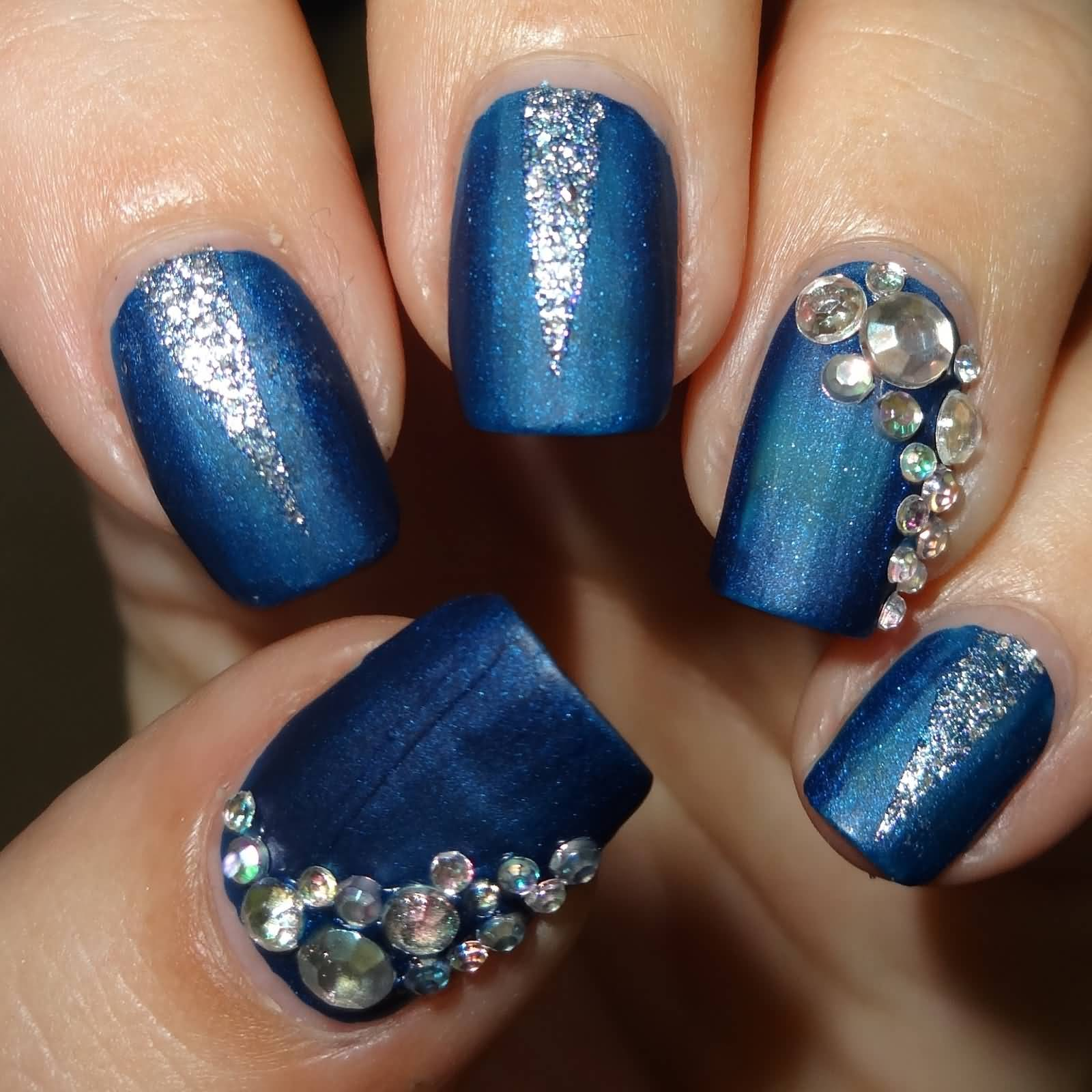 82 Best Blue And Silver Nail Art Design Ideas