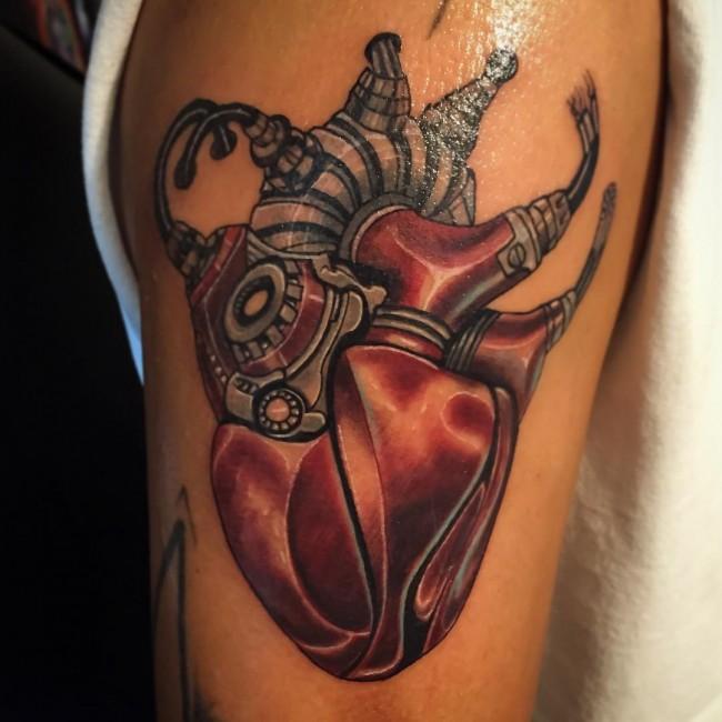 28 mechanical heart tattoos. Black Bedroom Furniture Sets. Home Design Ideas