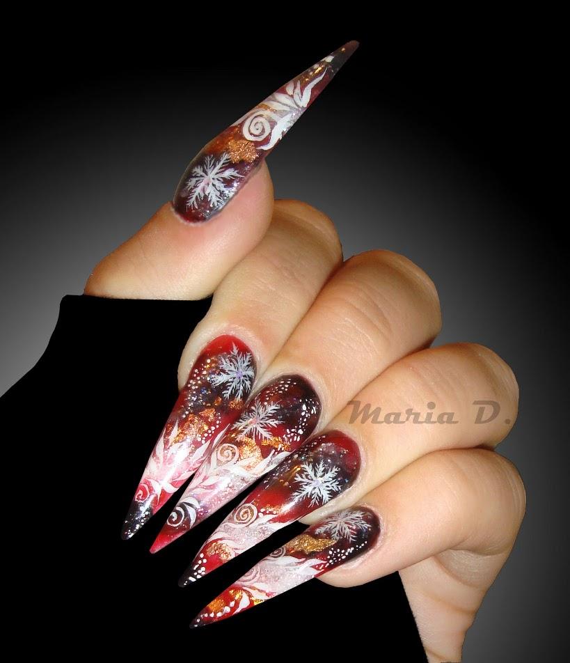 Long Nail Art: 55 Best Stiletto Nail Art Design Ideas