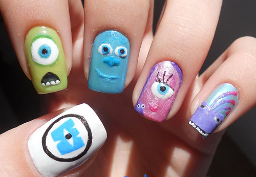nail art designs cartoon - Nail Art Designs Cartoon Hession Hairdressing