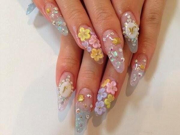 3d Rubber Flower Nail Art Design The Best Inspiration For Design