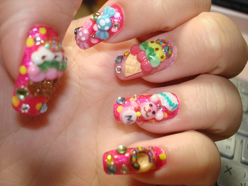 60 most stylish 3d nail art ideas for trendy girls colorful 3d nail art designs prinsesfo Gallery