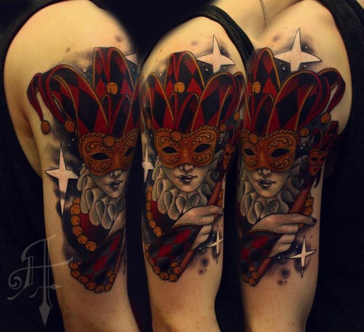 Tattoo Ideas Jester: 7+ Jester Tattoos On Half Sleeve