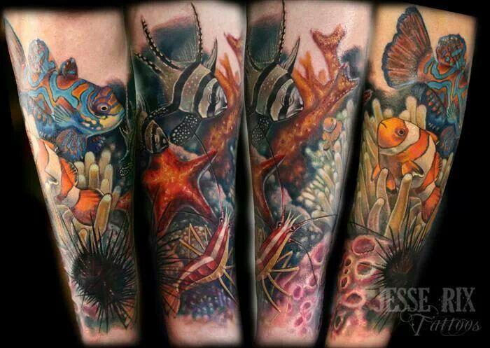 Saltwater fish tattoos images for Saltwater fishing tattoos