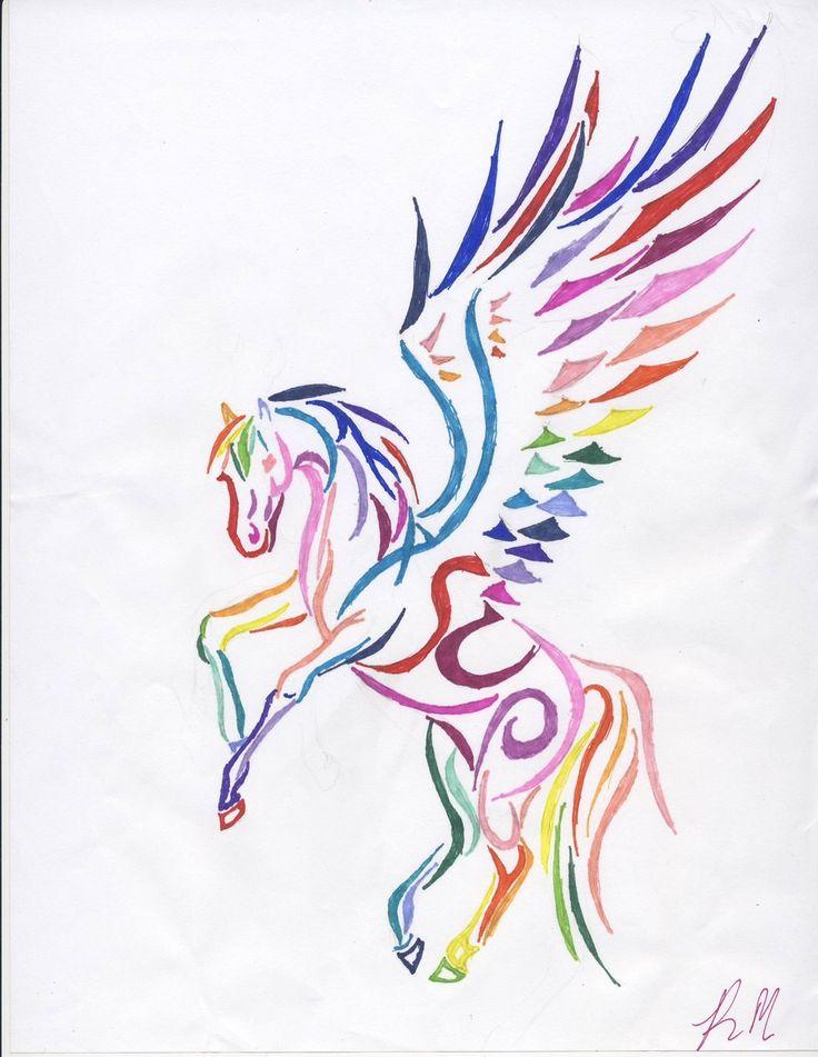 35+ Tribal Pegasus Tattoos Collection