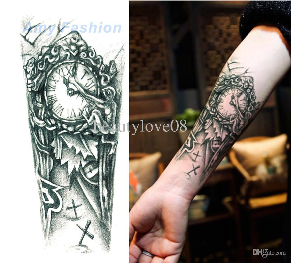 691159a2393ea Cool Biomechanical Watch Tattoo On Forearm