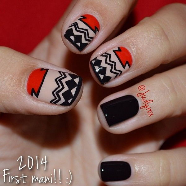 Cool Tribal Nail Art Ideas