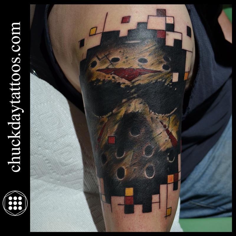 wonderful grey biomechanical jason tattoo on arm sleeve by d3adfrog. Black Bedroom Furniture Sets. Home Design Ideas