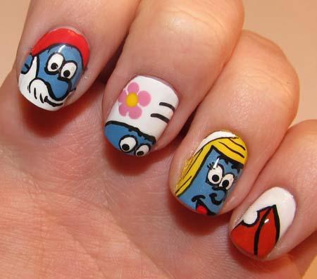 60 most beautiful cartoon nail art design ideas