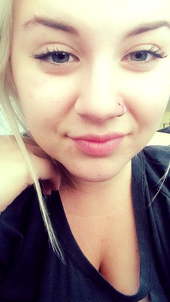 Double Nostril Piercing With Stud And Ring