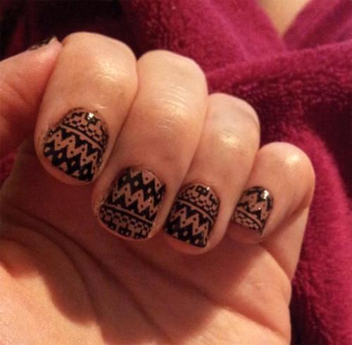 Nail art designs tribal gallery nail art and nail design ideas 60 most stylish tribal nail art design idea easy tribal pattern nail art design prinsesfo gallery prinsesfo Choice Image