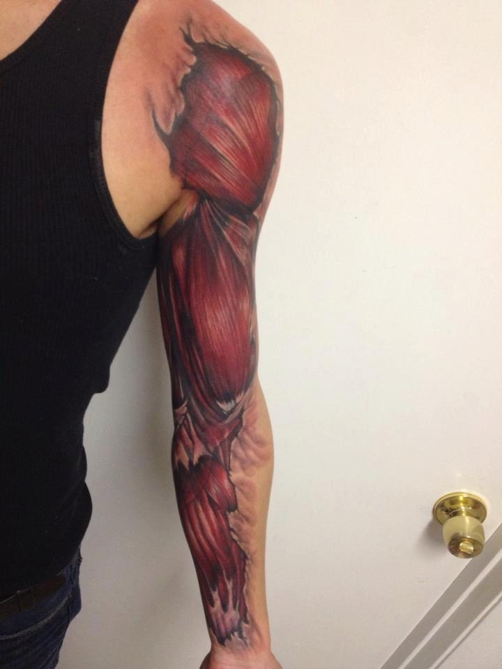 50 Amazing Muscles Tattoos