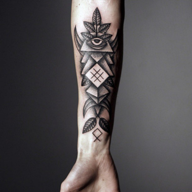 Eye With Triangle Tattoo: 30+ Triangle Eye Forearm Tattoos