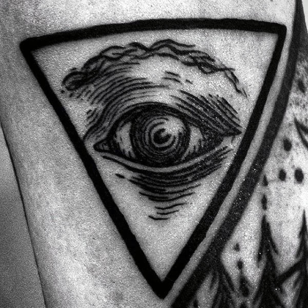 Eye With Triangle Tattoo: 50+ Unique Triangle Eye Tattoos Ideas