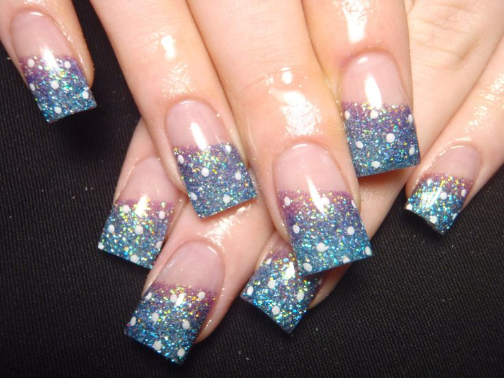 glitter french tip nail designs   best image wallpaper