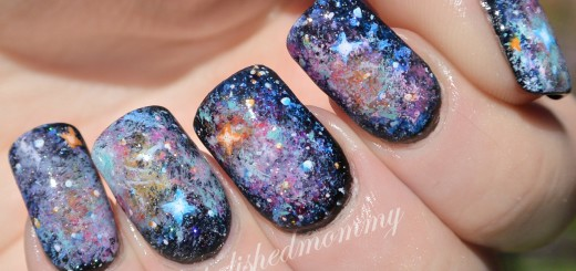 55 best galaxy design nail art ideas glittery galaxy nail design idea prinsesfo Images