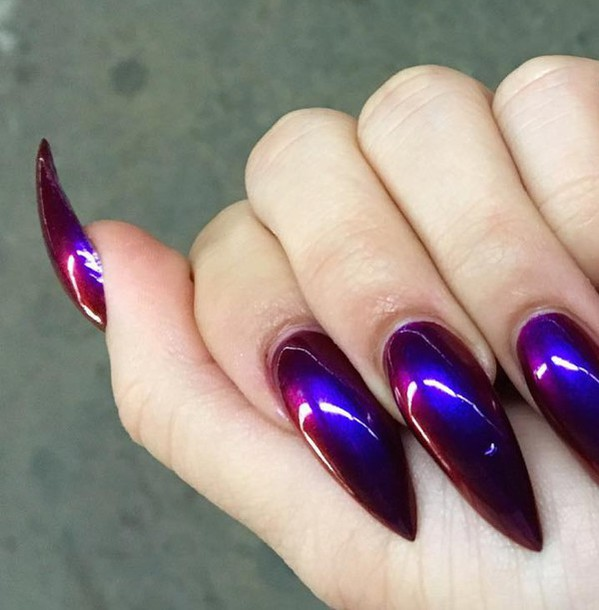 Holographic Stiletto Nails Best Nail Designs 2018