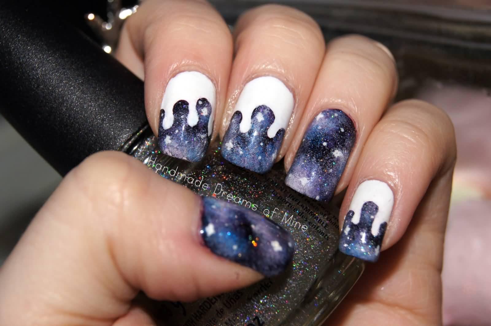 Amazing Galaxy Nail Art Tips Sketch - Nail Art Ideas - morihati.com
