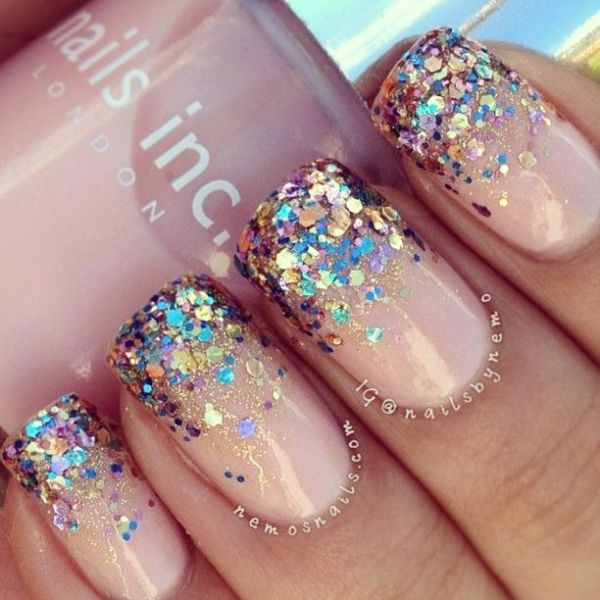 57 Most Beautiful Glitter Nail Art Design Ideas