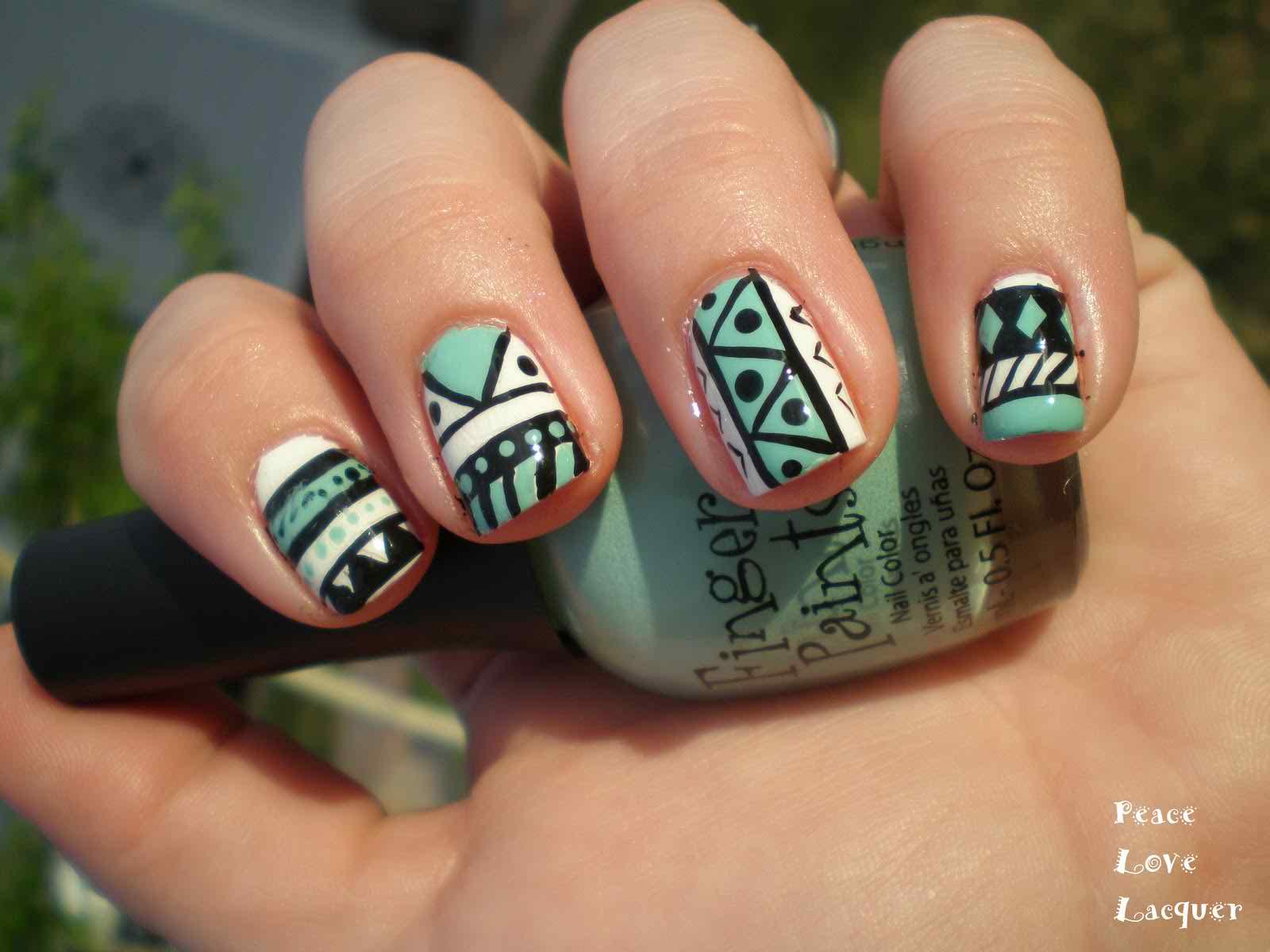 50 Best Tribal Nail Art Design Ideas