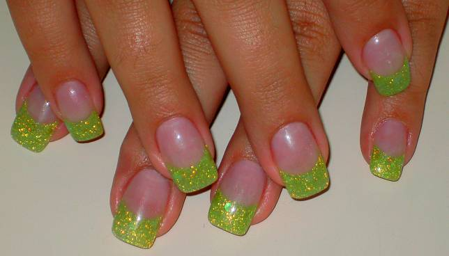 99 Glitter French Tip Acrylic Nail Designs Acrylic Nails French
