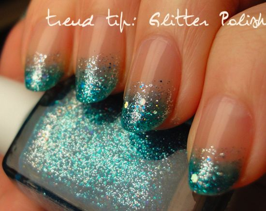 40 Most Amazing Glitter French Tip Nail Art Design Idea