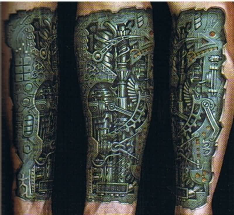 Mechanical Tattoos Images Reverse Search