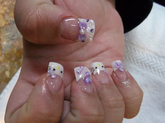 60 most stylish 3d nail art ideas for trendy girls hello kitty 3d bow nail art design idea prinsesfo Choice Image