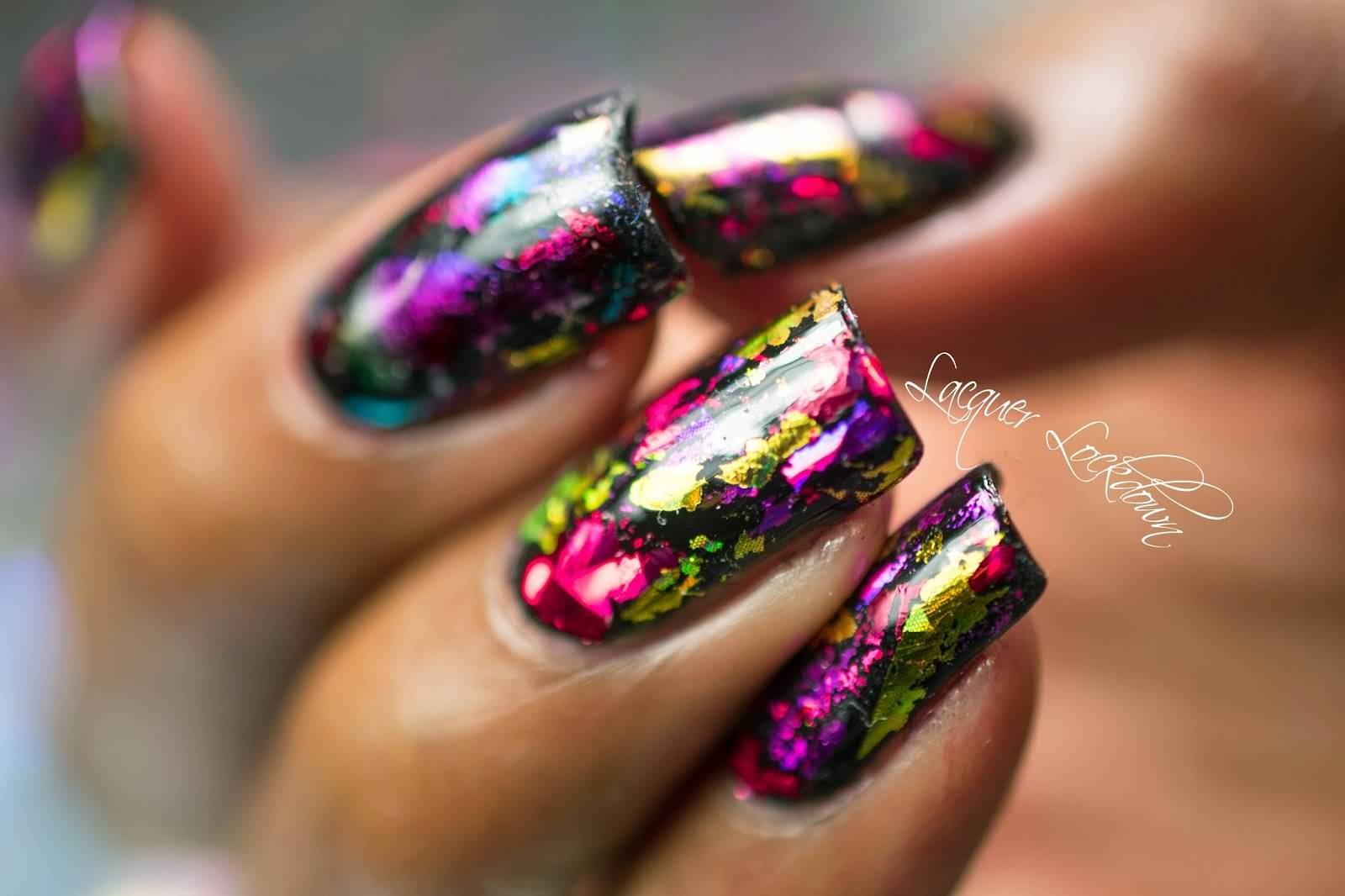 51 most stylish hologram nail art designs hologram balloon nail art design idea prinsesfo Choice Image