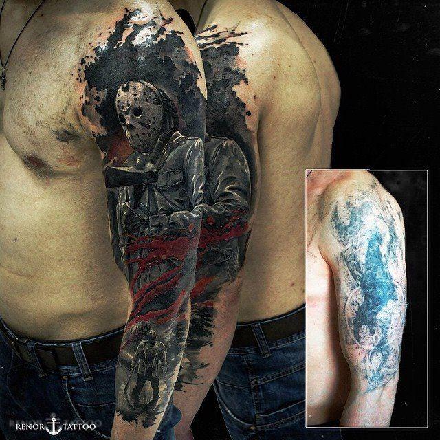 incredible biomechancial full arm tattoo. Black Bedroom Furniture Sets. Home Design Ideas