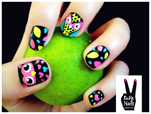 - Intricate Cartoon Nail Art