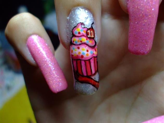 30 Most Adorable Birthday Nail Art Designs